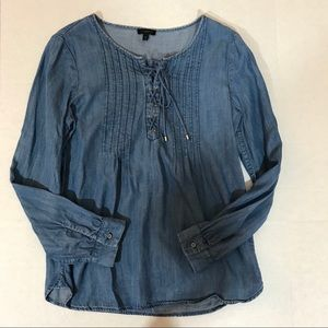Talbots Womens Top size Small Blouse long sleeve